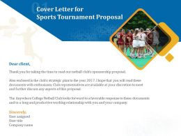Cover Letter For Sports Tournament Proposal Ppt Powerpoint Infographic