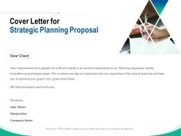 Cover Letter For Strategic Planning Proposal Ppt Powerpoint Presentation Model