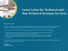 Cover Letter For Technical And Non Technical Sessions Services Ppt File Slides