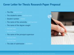Cover Letter For Thesis Research Paper Proposal Ppt Powerpoint Model