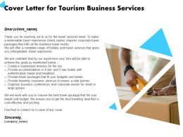 Cover Letter For Tourism Business Services Accommodation Ppt Powerpoint Presentation Graphics