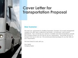 Cover Letter For Transportation Proposal Ppt Powerpoint Presentation Styles Deck
