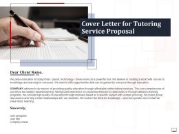 Cover Letter For Tutoring Service Proposal Ppt Powerpoint Presentation Gallery