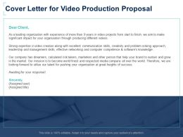 Cover Letter For Video Production Proposal Leadership Ppt Powerpoint Presentation Slides