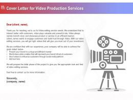 Cover Letter For Video Production Services Ppt Topics