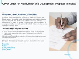 Cover Letter For Web Design And Development Proposal Template Ppt Powerpoint Presentation Ideas
