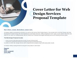 Cover Letter For Web Design Services Proposal Template Ppt Powerpoint Pictures