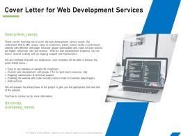 Cover Letter For Web Development Services Ppt Powerpoint Presentation Gallery