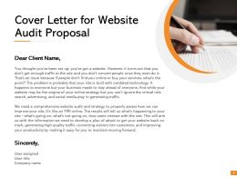 Cover Letter For Website Audit Proposal Ppt Powerpoint Presentation Visual Aids Slides