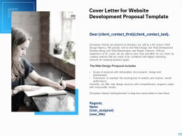 Cover Letter For Website Development Proposal Template Ppt Powerpoint Presentation Infographic