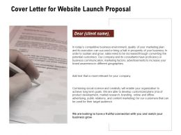 Cover Letter For Website Launch Proposal Ppt Powerpoint Presentation Outline Show