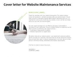 Cover Letter For Website Maintenance Services Agenda Ppt Powerpoint Slides