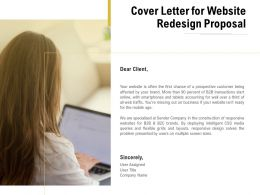 Cover Letter For Website Redesign Proposal Ppt Powerpoint Presentation Styles Images