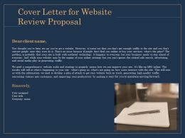Cover Letter For Website Review Proposal Ppt File Aids