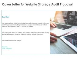 Cover Letter For Website Strategy Audit Proposal Ppt Powerpoint Presentation Styles Graphics