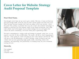 Cover Letter For Website Strategy Audit Proposal Template Ppt Powerpoint Deck