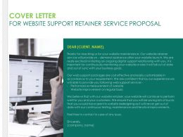 Cover Letter For Website Support Retainer Service Proposal Ppt Pictures