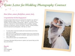 Cover Letter For Wedding Photography Contract Ppt Powerpoint Presentation Templates