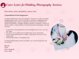 Cover Letter For Wedding Photography Services Ppt Powerpoint Presentation Outline