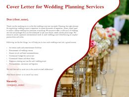 Cover Letter For Wedding Planning Services Ppt Powerpoint Presentation Gallery