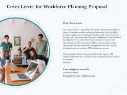 Cover Letter For Workforce Planning Proposal Ppt Powerpoint Infographics