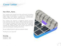 Cover Letter Management C1253 Ppt Powerpoint Presentation Visual Aids Diagrams