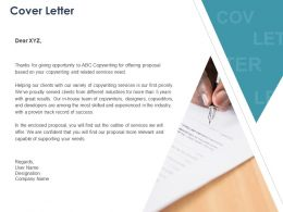 Cover Letter Management L1084 Ppt Powerpoint Presentation Icon Template
