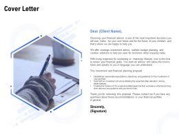 Cover Letter Management L1186 Ppt Powerpoint Presentation File