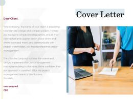 Cover Letter Management L741 Ppt Powerpoint Presentation Infographic