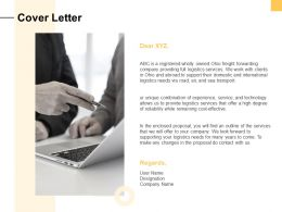 Cover Letter Management Ppt Powerpoint Presentation Professional Guide