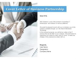 Cover Letter Of Business Partnership C1078 Ppt Powerpoint Presentation Icon Show