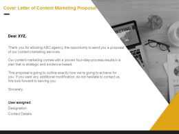Cover Letter Of Content Marketing Proposal Ppt Powerpoint Presentation Pictures Templates