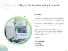 Cover Letter Of Digital Content Marketing Proposal Ppt Powerpoint Presentation File Rules
