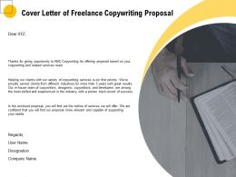 Cover Letter Of Freelance Copywriting Proposal Ppt Powerpoint Model