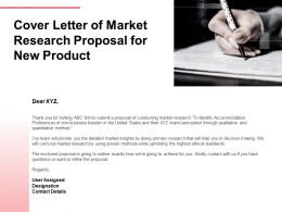 Cover Letter Of Market Research Proposal For New Product Ppt Powerpoint Presentation Summary