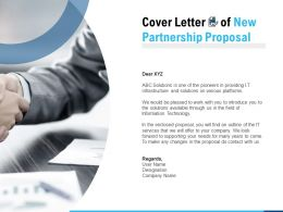 Cover Letter Of New Partnership Proposal Ppt Powerpoint Presentation Slides Templates