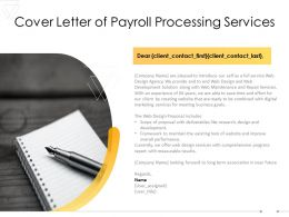 Cover Letter Of Payroll Processing Services Ppt Powerpoint Presentation Inspiration Display