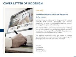 Cover Letter Of UX Design Ppt Powerpoint Presentation Icon File Formats