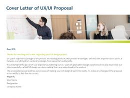 Cover Letter Of UX UI Proposal Ppt Powerpoint Presentation File Maker
