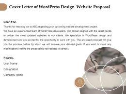 Cover Letter Of Wordpress Design Website Proposal Ppt Gridlines