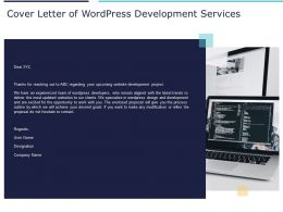 Cover Letter Of WordPress Development Services Ppt Powerpoint Presentation Layouts