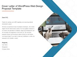 Cover Letter Of Wordpress Web Design Proposal Template Ppt Presentation Slides