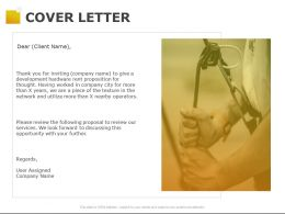 Cover Letter Opportunity Ppt Powerpoint Presentation Pictures Inspiration