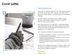Cover Letter Planning Business Ppt Powerpoint Presentation Outline Portrait