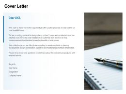 Cover Letter Planning C1216 Ppt Powerpoint Presentation Infographics
