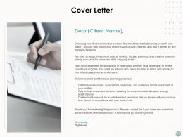 Cover Letter Planning Strategy Ppt Powerpoint Presentation Inspiration Show