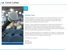 Cover Letter Ppt Powerpoint Presentation Summary Example Introduction
