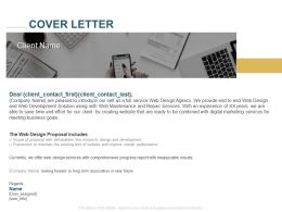 Cover Letter Proposal Includes Ppt Powerpoint Presentation Model Visual Aids