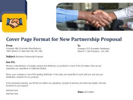 Cover Page Format For New Partnership Proposal