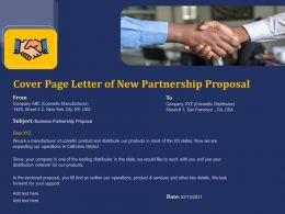 Cover Page Letter Of New Partnership Proposal